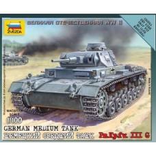 Сборная модель немецкий средний танк Pz.Kp.fw.III G