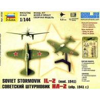 Сборная модель cоветский штурмовик Ил-2 образец 1941 г