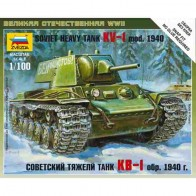 Сборная модель советский тяжелый танк КВ-1 образец 1940г