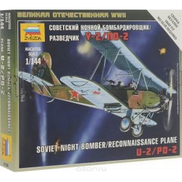 Сборная модель советский ночной бомбардировщик/разведчик По-2