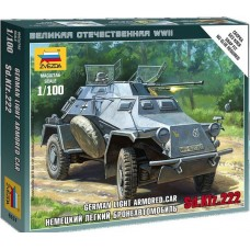 Сборная модель немецкий бронеавтомобиль Sdkfz 222