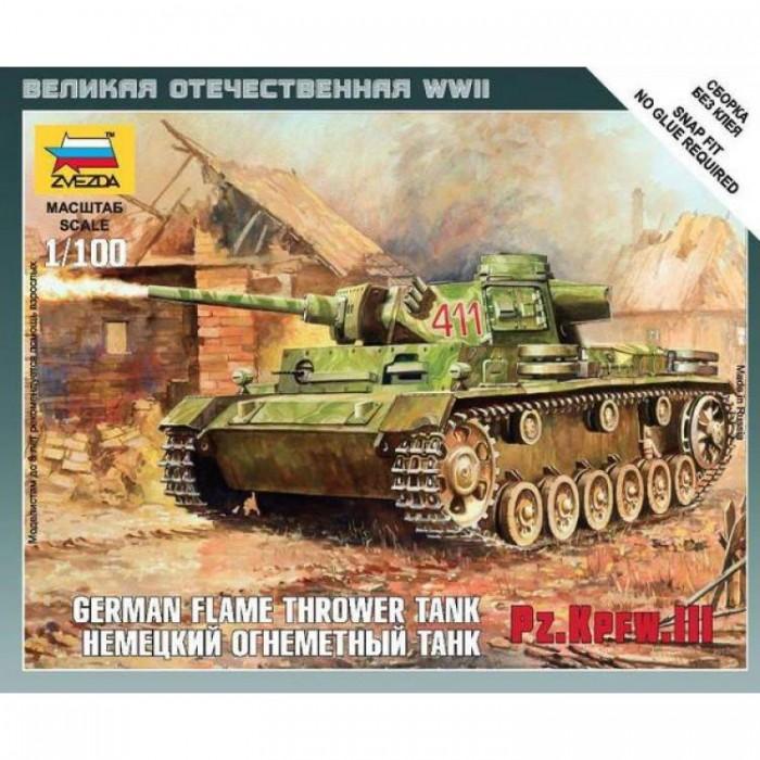 Сборная модель немецкий огнеметный танк Pz.Kfw III