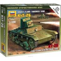 Сборная модель советский огнеметный танк ХТ-26