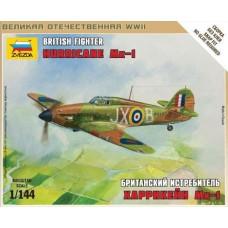 Сборная модель британский истребитель Hurricane Mk-1