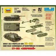 Сборная модель советская САУ СУ-152 Зверобой