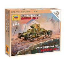 Сборная модель британский средний танк Матильда МК-I