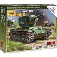 Сборная модель советский тяжёлый танк КВ-2