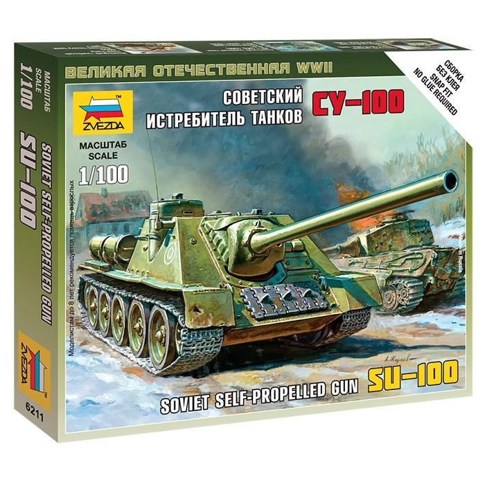 Сборная модель советский истребитель танков СУ-100