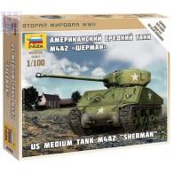 Збірна модель американський танк Шерман