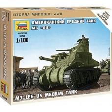 Сборная модель американский средний танк Ли М3