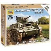 Збірна модель американський легкий танк Стюарт
