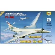 """Збірна модель для склеювання літак """"Ту-160"""""""
