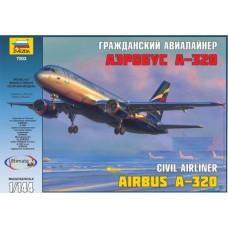 """Сборная модель для склеивания самолет """"Аэробус А-320"""""""