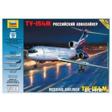 """Збірна модель для склеювання пасажирський авіалайнер """"Ту-154"""""""