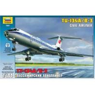 """Сборная модель для склеивания пассажирский авиалайнер """"Ту-134"""""""
