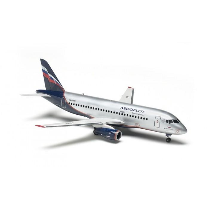 """Збірна модель для склеювання пасажирський авіалайнер """"Суперджет 100"""""""