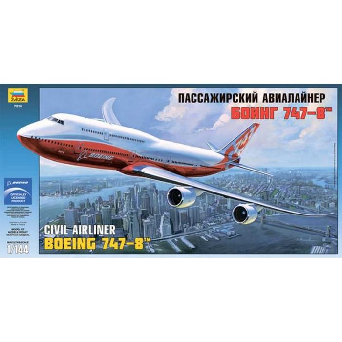 """Сборная модель для склеивания самолет """"Боинг 747-8"""""""