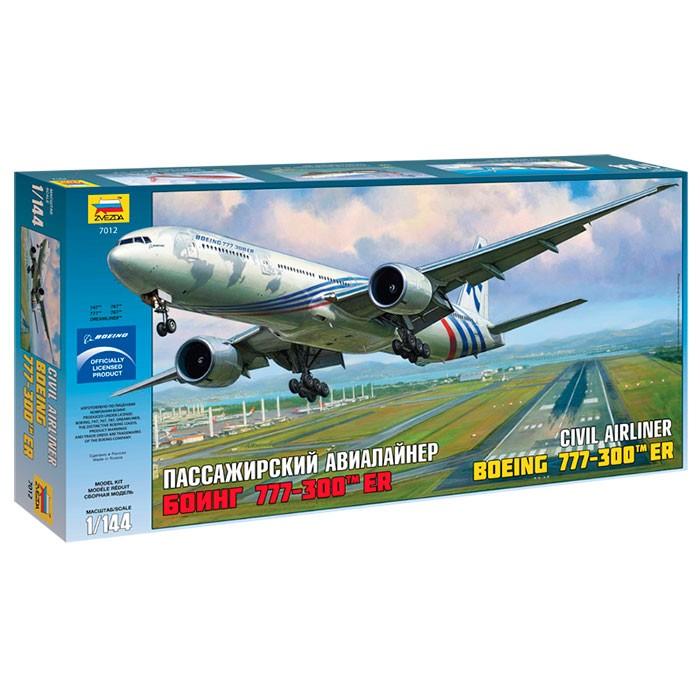 """Сборная модель для склеивания пасс. авиалайнер """"Боинг 777-300"""""""