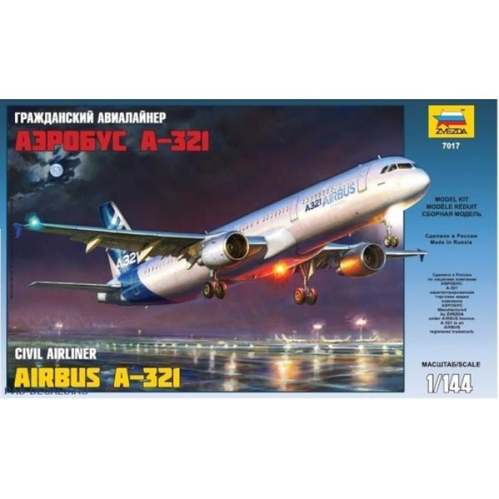 """Сборная модель для склеивания самолет """"Аэробус А-321"""""""