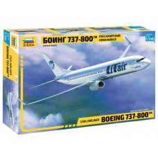 """Збірна модель для склеювання пасажирський авіалайнер """"Боїнг 737-800"""""""