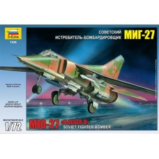 """Збірна модель для склеювання літак """"МіГ-27"""""""