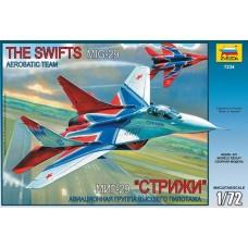 """Сборная модель для склеивания самолет """"МИГ-29"""" авиагруппа """"Стрижи"""""""