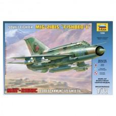 """Збірна модель для склеювання літак """"МіГ-21БІС"""""""