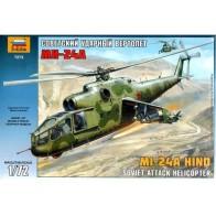 Збірна модель для склеювання вертоліт Мі-24А