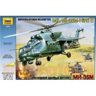 Збірна модель для склеювання вертоліт Мі-35