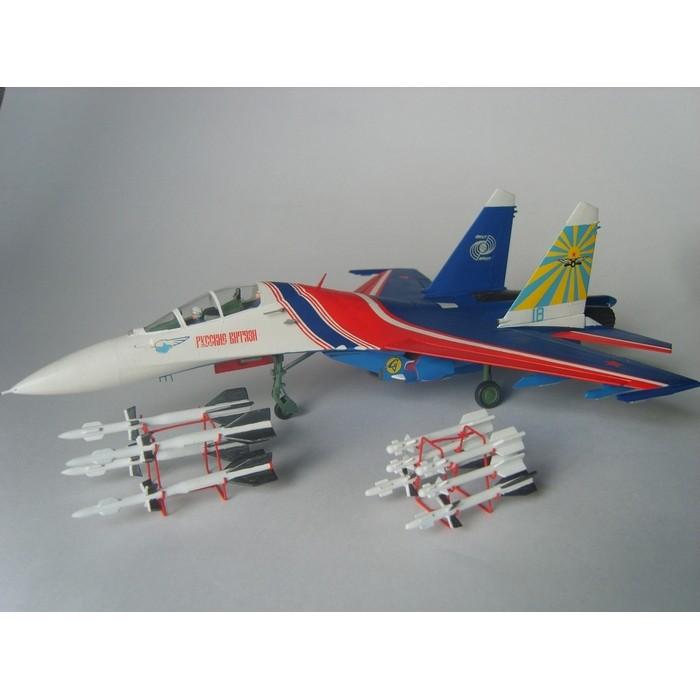 """Збірна модель для склеювання літак """"Су-27УБ"""" """"Російські витязі"""""""