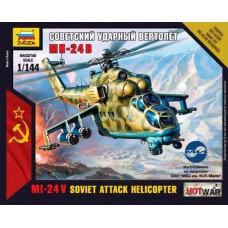 Сборная модель советский ударный вертолет Ми-24В