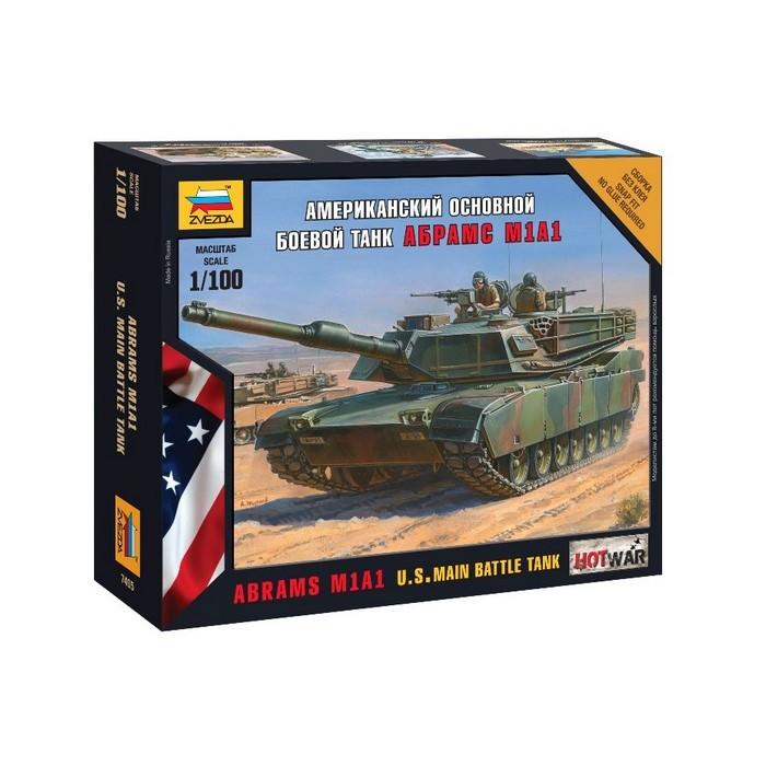 Збірна модель американський осн. бойовий танк Абрамс М1А1