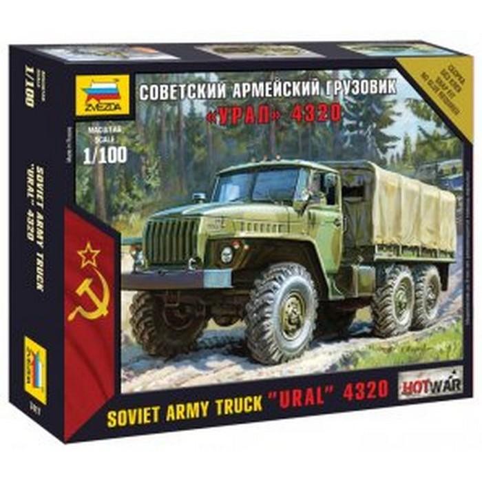 Збірна модель радянський армійська вантажівка Урал 4320