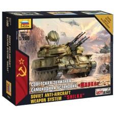 Збірна модель радянська зенітна САУ Шилка
