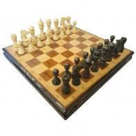 Шахи ручної роботи Лотос темні (55х55см) NS-SH12