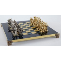 Шахматы эксклюзивные Manopoulos, Спартанский воин (28х28см) S16BLU