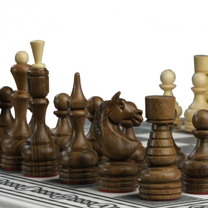 Комплект 3 в 1 (шахи, шашки та нарди) Бокс білий. Ручна робота