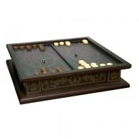 Комплект 3 в 1 (шахматы, шашки и нарды) Бокс темный. Ручная робота