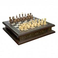 Комплект 3 в 1 (шахи, шашки та нарди) Бокс темний. Ручна робота
