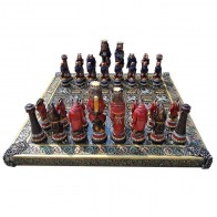 Шахматы эксклюзивные Лев - царь зверей (59х59см)