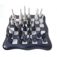 Шахматы эксклюзивные Фигурные (40х40см). Черно-белые. Доска бокс.