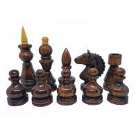 Шахові фігури ручної роботи D34T (темне тонування)