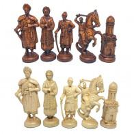 """Шахматные фигуры деревянные """"Казаки"""" коричневые"""