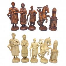 Шахматные фигуры деревянные Казаки (коричневые)