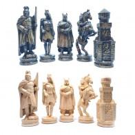 Шахматные фигуры деревянные Рыцари (черные)