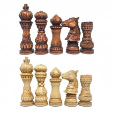 Шахматные фигуры деревянные Лотос (коричневые)