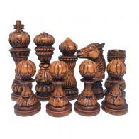 """Шахматные фигуры деревянные """"Лотос"""" коричневые"""