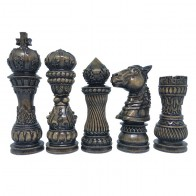 Шахматные фигуры деревянные Лотос (черные)
