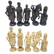 Шахматные фигуры деревянные Казаки (черные)
