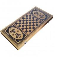 Нарди + шахи + шашки бамбук B5025-C